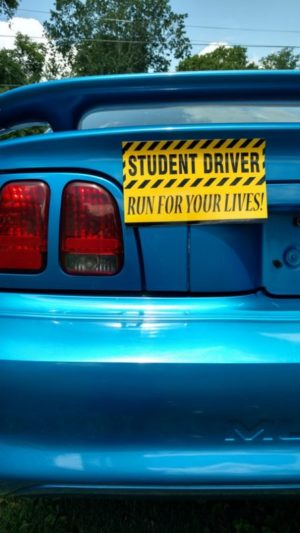 student driver vehicle magnet