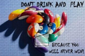 dont drink and play indoor sports poster