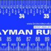 genuine layman peel & stick ruler sticker